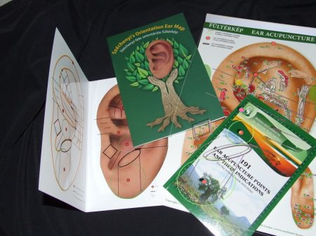 Ear Acupuncture Map Pack : Orientation EAR Map+ A4 EAR MAP + A4 transparent foil+Handbook ( VAT NOT Included)